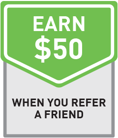 Refer a friend, earn $50